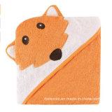綿の動物デザイン赤ん坊/Kidのためのフード付きの浴室タオル