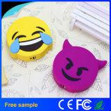 Caricabatteria mobile portatile di vendita del fumetto del PVC Emoji della Banca calda di potere