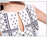 Summer New Sleeveless Vest Coat Feminino Retro Print Shorts Suit Fashion Two Sets Suit