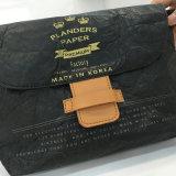 Cinco cores lavaram os sacos unisex S de Crossbody do papel de embalagem (A082-1)