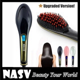 Quattro Color Nasv con affissione a cristalli liquidi Hair Straightener Brush