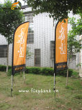 2.8m Exhibition Aluminium Customized Flying Banner/Blade Flag