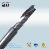 Hartmetall-einzelnes Flöte-Recht-Spirale-Enden-Tausendstel für Plastik