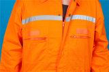 Vêtements de travail de sûreté de chemise de qualité du polyester 35%Cotton de 65% longs avec r3fléchissant (BLY1017)