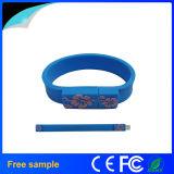 Movimentação do flash do USB do bracelete de Pendrive do Wristband da flor da impressão