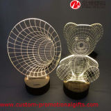 Romantische Illusion-Lampe des Geschenk-Ausgangsdekoration-Bären-3D