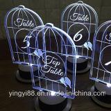 Jaulas de pájaro de acrílico claras de calidad superior para la decoración