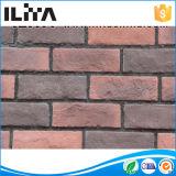 Tijolo vermelho de pedra cultivado decorativo para o revestimento da parede (YLD-01003)