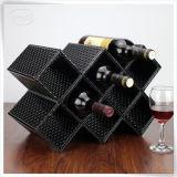 De nieuwste Carriers van de Doos van de Wijn van het Leer van het Leer van Pu voor de Houder van 2 Flessen