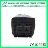Inversores puros do carro do seno de DC72V 2000W com indicação digital (QW-P2000)