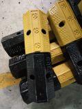 Tapón de goma amarillo y negro de la rueda