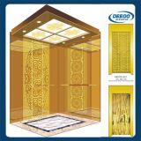 Elevación de oro del elevador del pasajero de la aguafuerte del espejo