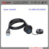 심천에 있는 Explosionproof 플라스틱 IP67 Plug 3.0 USB 잭 Connector 또는 Cable Extension Socket