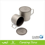 550ml 18.6oz Titanium Camping Mug con Lid