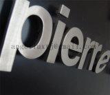屋内掲示板のステンレス鋼の文字を広告する印のサテンによってブラシをかけられるステンレス鋼