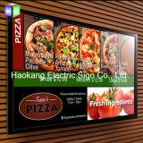 Snap Aluminium White Picture Frame Slim LED Light Box pour magasin Signe