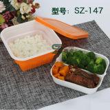 960ml verdicken mit inneres Tellersegment-Wegwerfplastiknahrungsmittelvorratsbehälter