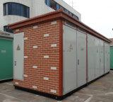 통합에 의하여 미리 틀에 넣어 만들어지는 시멘트 콤팩트 변전소
