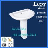 Керамический Washbasin постамента с Saso