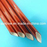 Gainer tressé par fibre de verre avec enduit de silicone