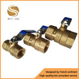 Válvula de esfera de bronze forjada da válvula e do gás da água da válvula de esfera de Cw617n