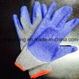 Guantes 100% de la seguridad del algodón con el látex cubierto