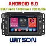 De vierling-Kern van Witson de Androïde Speler van de 6.0 Auto DVD voor Gmc Yukon/2g RAM In de voorsteden Bulit in 4G 16GB ROM