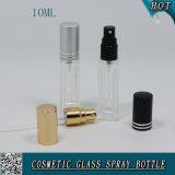 bottiglia di vetro libera quadrata dello spruzzo della pompa del profumo 10ml