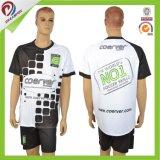 Оптовый износ футбола, трикотажные изделия футбола OEM дешевые, сублимация Джерси печатание DIY