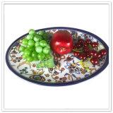 Placa de cena Shaped oval de la alta calidad aprobada por la FDA diaria del uso
