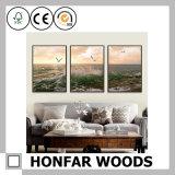 Cornice di legno di stampa della galleria della tela di canapa per la decorazione della parete
