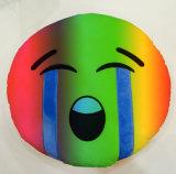 견면 벨벳 직물 PP 면 채우는 색깔 Emoji 베개