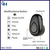 Mini fone de ouvido sem fio verdadeiro super do telefone de pilha de Bluetooth da em-Orelha