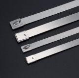 Type non-enduit serres-câble 300X4.6 de blocage de boule de commande d'acier inoxydable