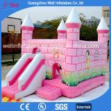 販売のためのピンクの女の子の城のスライドの膨脹可能な跳ねるジャンパー