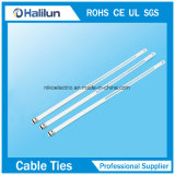 Le PVC verrouillé de serres-câble du picot simple solides solubles d'échelle a enduit
