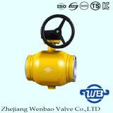 Padrão todo - válvula de esfera montada eixo da soldadura para o gás