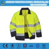 Chaleco corriente reflexivo de la seguridad/chaqueta reflexiva del chaleco de la bici de seguridad del invierno