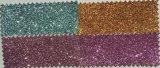 Ткань PU яркия блеска кожаный для ботинок Hw-1410 повелительниц