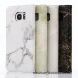 Мраморный кожаный край HTC LG Samsung S7/S7 аргументы за сотового телефона бумажника вся серия