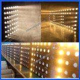 El panel de la viga del club de noche de la anteojera de la matriz 36*3W del oro LED de la etapa