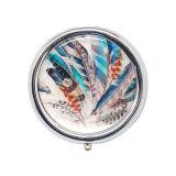 ホーム装飾の記念品の円形の金属の丸薬ボックス鉛1037A