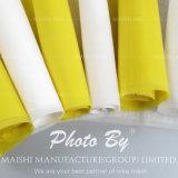Maglia bianca/gialla dello schermo del poliestere
