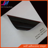 Autoadesivo autoadesivo del vinile del PVC colla bianca/grigia/nera (140GSM)