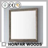 Серая деревянная рамка зеркала отливая в форму для украшения комнаты гостиницы гостиницы