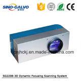 macchina dinamica della marcatura del laser del metallo 3D con la testa Sg2208-3D di Galvo