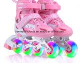 Patins de rolo feitos sob encomenda do diodo emissor de luz da roda das sapatilhas para miúdos