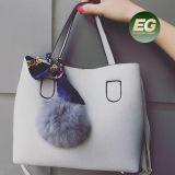A bolsa à moda do saco de Tote das mulheres para mulheres vende por atacado a bolsa de couro das senhoras do plutônio com acessório adorável Sy8485
