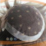 Sistema posteriore rivestito del Toupee del Mens dei capelli umani poli, parte dei capelli