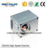 Alta velocidad de 9 mm de apertura de haz Digital Jd1403 escanear la máquina de corte láser de cabeza